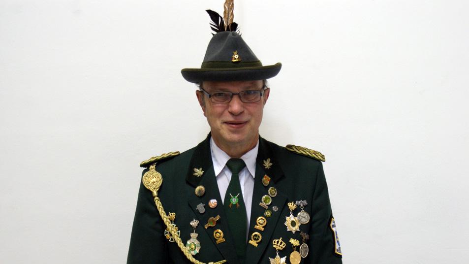 Der 1. Vorsitzende der SB Nesselröden Lothar Schenke