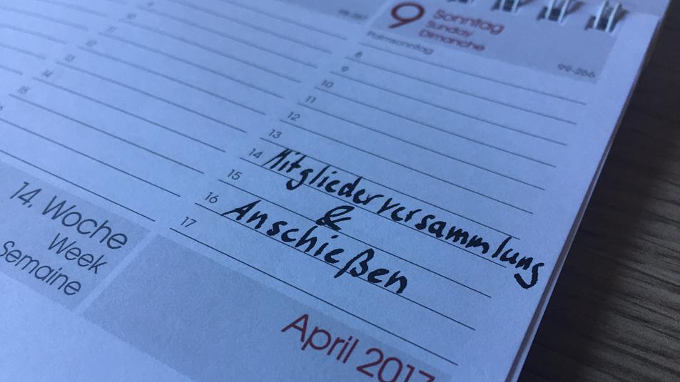 Fest im Kalender eintragen! Mitgliederversammlung und Anschiessen SB Nesselröden 9. April 2017