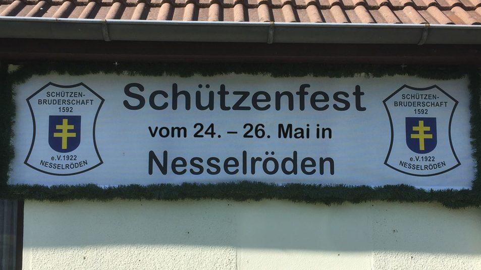 Ankündigung und Datum Schützenfest 2019 in Nesselröden. 24.-26. Mai 2019